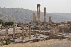 Ruïnes, Amman Citadel Stock Afbeeldingen