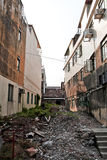 Ruïnes in Backstreet in Hong Kong Royalty-vrije Stock Afbeeldingen