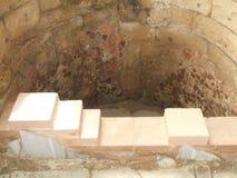 Ruïnes, bad, het paleis van Koningsherod, Masada, Israël stock fotografie