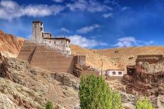 Ruïnes in Basgo-Klooster, Leh, Ladakh, Jammu en Kahsmir, India Royalty-vrije Stock Foto