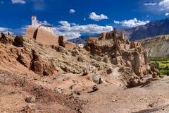Ruïnes, Basgo-Klooster, Leh ladakh, Jammu en Kashmir, India Royalty-vrije Stock Foto