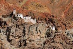 Ruïnes, Basgo-Klooster, Leh ladakh, Jammu en Kashmir, India Stock Afbeelding