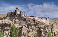 Ruïnes bij Basgo-Klooster Royalty-vrije Stock Foto's