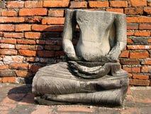 Ruïnes bij de Oude hoofdstad van Thailand Stock Foto
