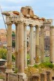Ruïnes bij het Forum in Rome Royalty-vrije Stock Afbeeldingen