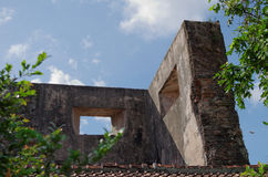 Ruïnes bij pulocemeti, taman het waterkasteel van Sari - de koninklijke tuin van sultanaat van Jogjakarta Stock Foto