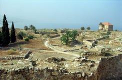 Ruïnes, Byblos, Libanon Stock Foto's