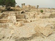 Ruïnes in Caesarea, Israël Stock Afbeeldingen