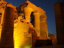 Ruïnes in de nacht Stock Foto's