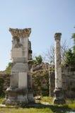 Ruïnes in de oude Griekse advertentie Maeandrum, Turkije van de stadsmagnesia Stock Foto