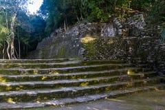 Ruïnes in de oude Mayan stad van Coba Stock Fotografie