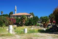 Ruïnes in de stad van Kos Stock Fotografie