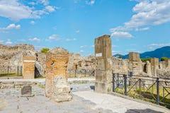 Ruïnes in de stad van Pompei Royalty-vrije Stock Foto