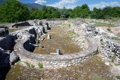 Ruïnes in Dion, Griekenland. royalty-vrije stock foto's