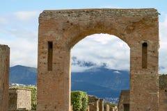 Ruïnes en Overblijfselen van de stad van Pompei Italië Stock Fotografie