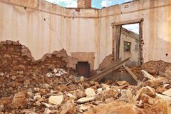 Ruïnes en puin Royalty-vrije Stock Foto