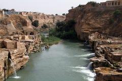 Ruïnes en rivier Royalty-vrije Stock Afbeeldingen