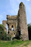 Ruïnes, feodaal kasteel van fréteval Frankrijk royalty-vrije stock foto
