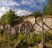 Ruïnes - het Kasteel van Liptov Stock Fotografie