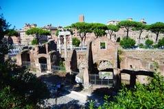 Ruïnes in het oude landschap van Rome Royalty-vrije Stock Foto