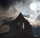 ruïnes in Ierland scène royalty-vrije stock foto's