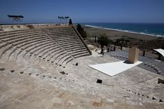 Ruïnes in Kourion, Cyprus Royalty-vrije Stock Foto