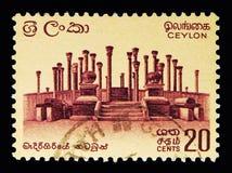 Ruïnes in Madirigiriya, Definitieve Kwestie 1964-72 serie, circa 196 Royalty-vrije Stock Afbeeldingen