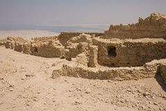 Ruïnes in Masada stock afbeeldingen
