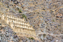 Ruïnes in Ollantaytambo, Peru Royalty-vrije Stock Foto's