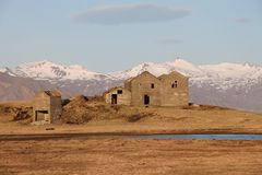 Ruïnes in Oostelijk IJsland Stock Afbeeldingen