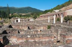 Ruïnes Oude Heraclea Lyncestis, Bitola Macedonië stock fotografie