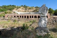 Ruïnes Oude Heraclea Lyncestis, Bitola Macedonië Stock Foto's