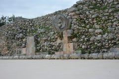 Ruïnes in oude Mayan plaats Uxmal, Mexico stock fotografie