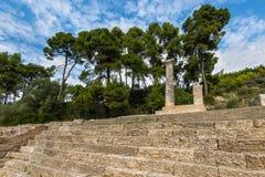 Ruïnes in Oude Olympia, Elis, Griekenland royalty-vrije stock foto's