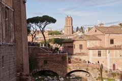 Ruïnes in Rome, Italië Stock Afbeeldingen