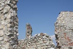ruïnes - steenmuren royalty-vrije stock afbeelding