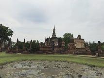 Ruïnes in Sukhothai Thailand Stock Foto's