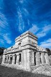 Ruïnes in tulum royalty-vrije stock foto
