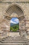 Ruïnes van abdij Heilige Jean d& x27; Aulps, Frankrijk royalty-vrije stock afbeelding