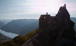 Ruïnes van Aggstein, Oostenrijk Royalty-vrije Stock Afbeeldingen