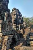 Ruïnes van Angkor Wat in Kambodja stock afbeelding