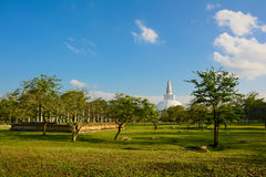 Ruïnes van Anuradhapura en Ruwanweli Dagoba, Sri Lanka Stock Foto