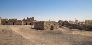 Ruïnes van Azraq-Kasteel, centraal-oostelijk Jordanië stock foto