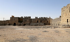 Ruïnes van Azraq-Kasteel, centraal-oostelijk Jordanië, 100 km-het oosten van Amman Royalty-vrije Stock Fotografie