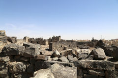 Ruïnes van Azraq-Kasteel, centraal-oostelijk Jordanië, 100 km-het oosten van Amman Royalty-vrije Stock Foto
