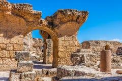 Ruïnes van Baden Antonine in Carthago, Tunesië royalty-vrije stock fotografie
