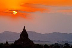 Ruïnes van Bagan- Birma (Myanmar) stock afbeelding