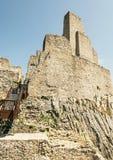 Ruïnes van Beckov-kasteel, Slowaakse republiek, reisbestemming, ver royalty-vrije stock foto's