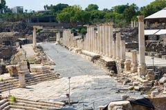 Ruïnes van Beit She ' Royalty-vrije Stock Foto's