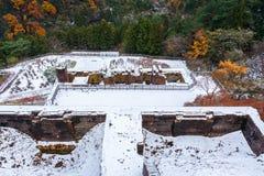 Ruïnes van Besshi-kopermijn Royalty-vrije Stock Fotografie